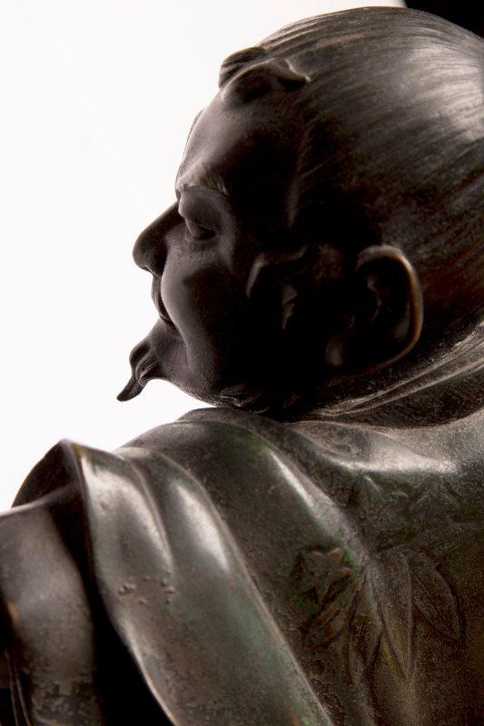 Samurai okimono moro antik