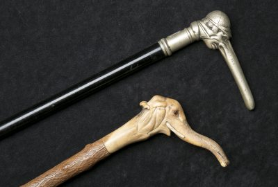 Humorous walking sticks,
