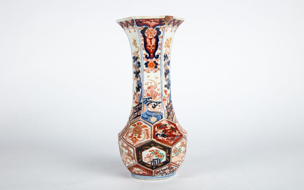 Hexagonal Arita Vase
