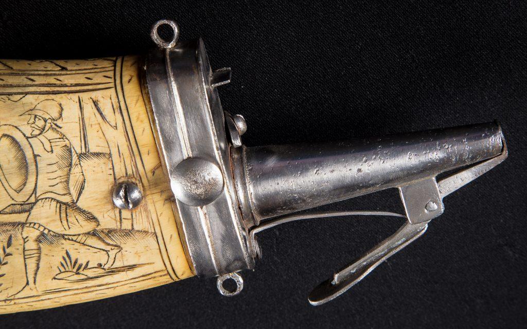 Horn Gunpowder with Iron Fittings