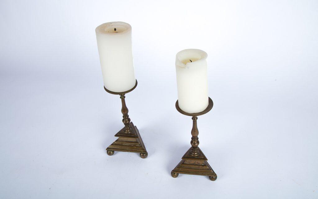 Baroque Candlesticks Pair
