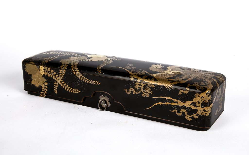 Japanese Phoenix Lacquer Box