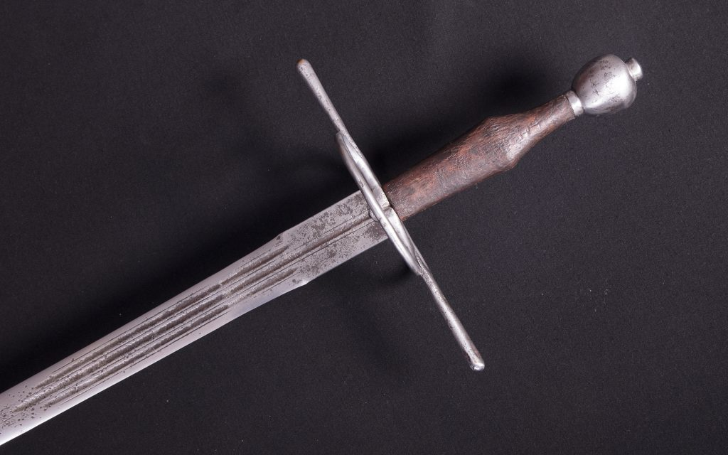 hand-and-a-half steel sword