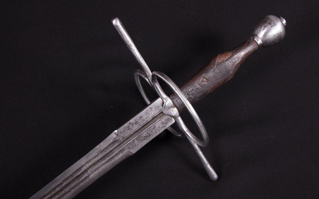 hand-and-a-half steel sword