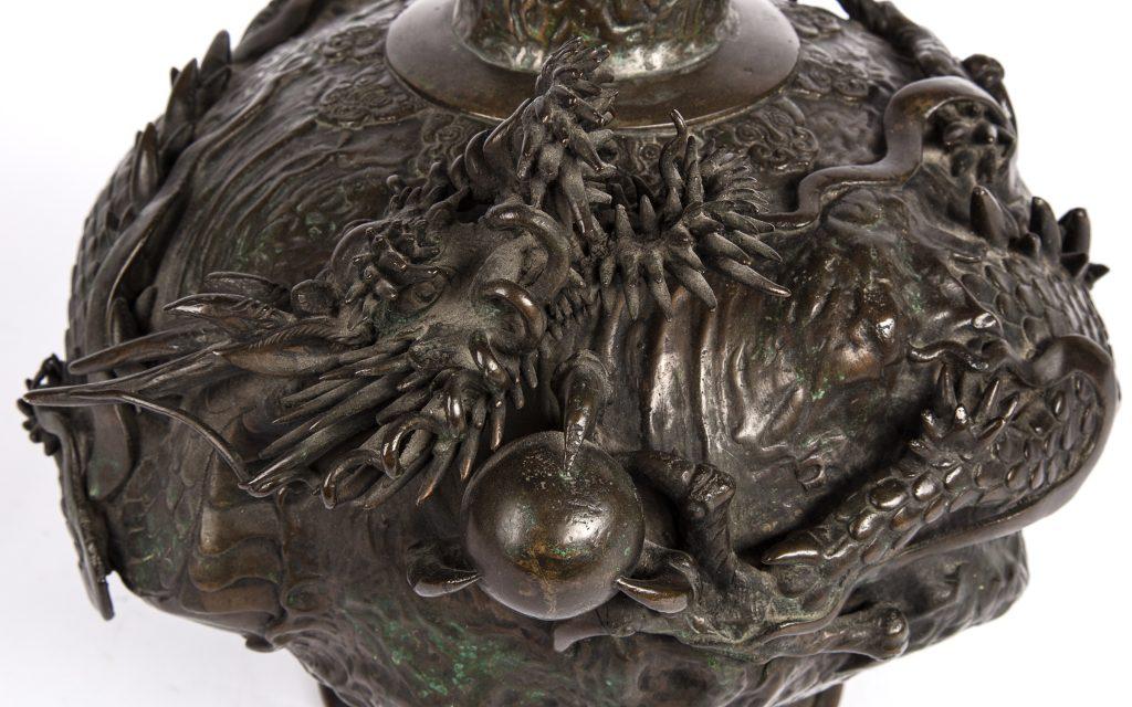 Bronze Vase with Dragon