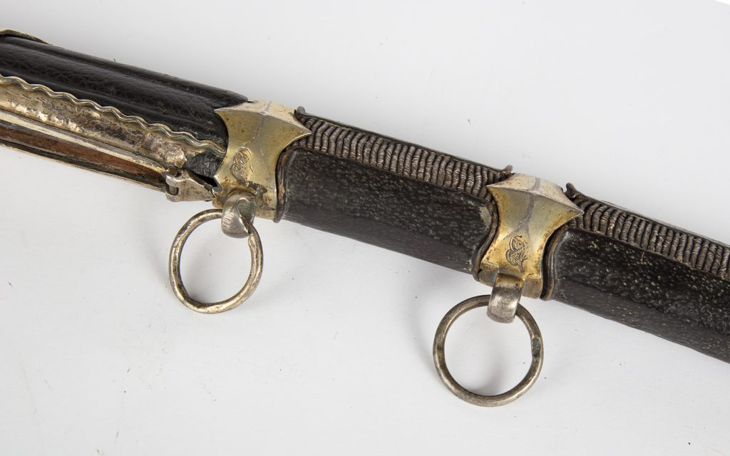 Gilded silver saber with Tugra mark