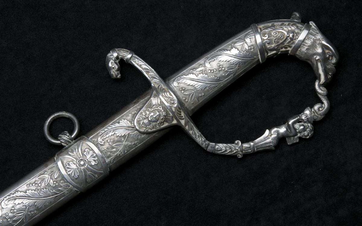 Ezüst empire díszszablya / Silver empire sabre.